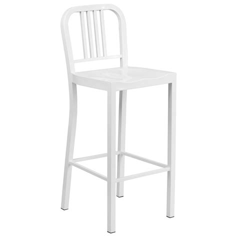 Outdoor Bar Stools White by Hartford Modern White Outdoor Bar Stool Eurway Modern