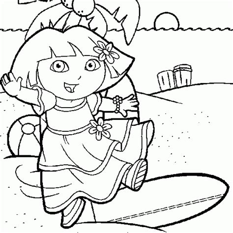 dora swimming coloring pages dora summer car interior design