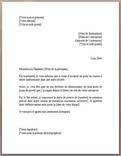 Exemple De Lettre De Demission Cdd Periode D Essai Lettre De Motivation Dactylographi 233 E Lettre De