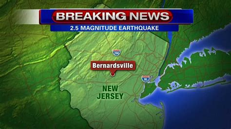 earthquake nj earthquake 2 miles north of bernardsville n j in