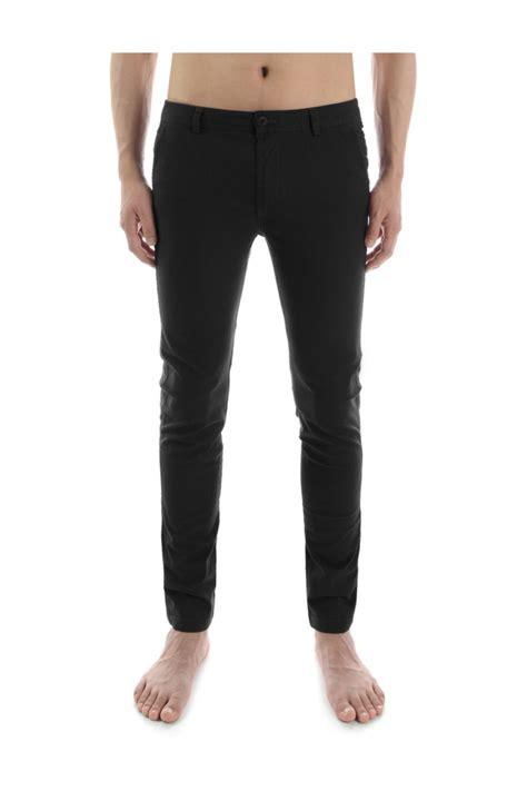 Cotton Slim Fit mens black cotton slim fit trousers korean clothing