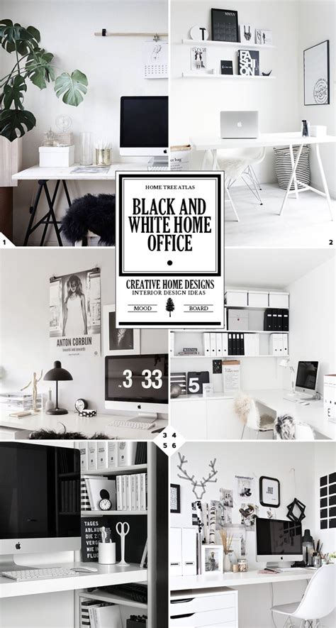 black and white home the 3 steps to creating a black and white home office