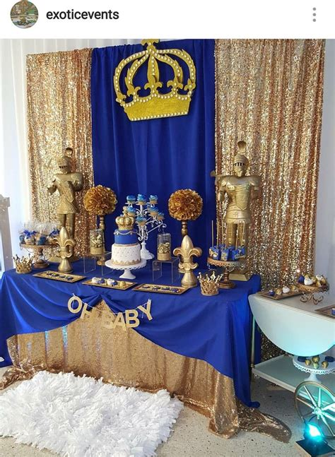 Royalty Themed Baby Shower by Royal Prince Baby Shower Dessert Table Royal Prince Boy