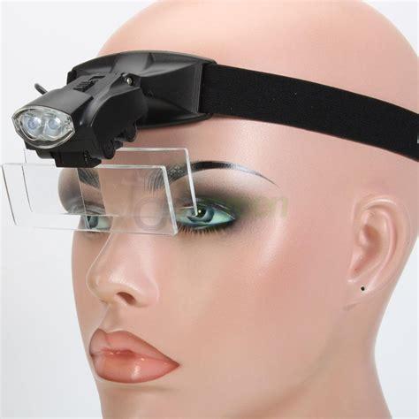 headband magnifier with light led light head loop headband magnifier 5 lens magnifying