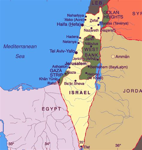 jerusalem map world maps of jerusalem