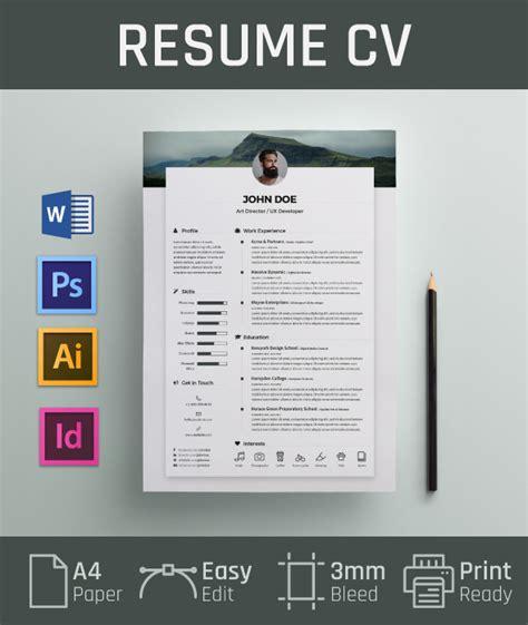Free Resume CV Design Template & Cover Letter In DOC, PSD