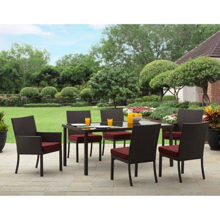 patio dining set seats 6 better homes and gardens valley 7 patio dining