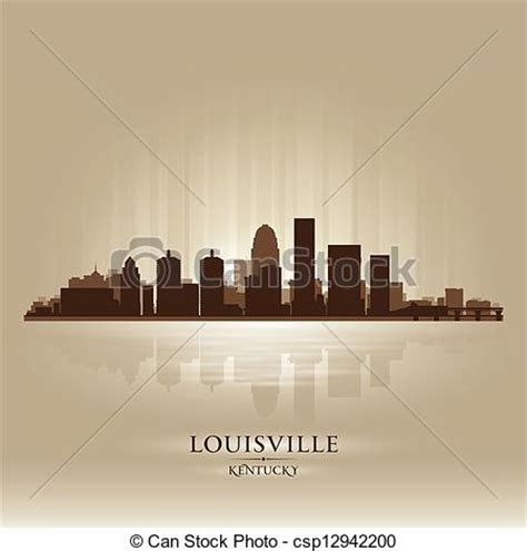 Louisville Ky Skyline Outline by Vector Clipart Of Louisville Kentucky Skyline City Silhouette Louisville Csp12942200