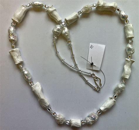 How To Make Paper Mache Jewelry - hilary bravo papier mache necklace jewelry paper