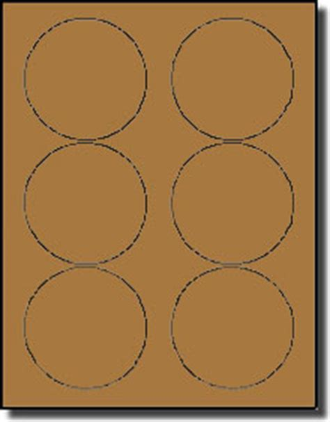 120 Round Brown Kraft Labels 3 1 3 Inch Diameter Stickers For Laser Or Inkjet Use Avery 174 5195 Avery Circle Labels 2 Inch Template