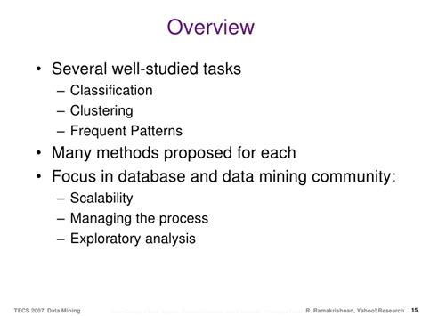 pattern classification techniques in data mining data mining with many slides due to gehrke garofalakis