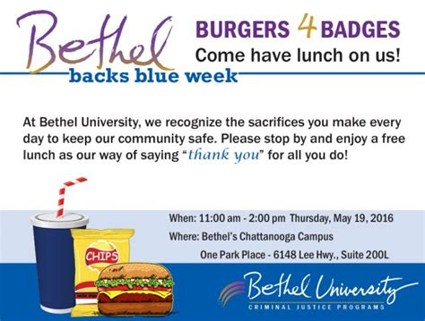 Utc Mba Tuition by Burgers 4 Badges Chattanooga Bethel