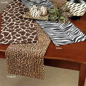 Elegant Table Linens For Weddings - animal print table runners these polyester cotton velveteen accents images frompo