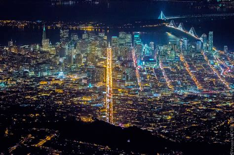 aerial photos capture san francisco s nightlife from 7 200 creators
