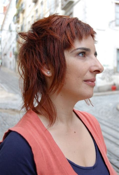 trendy cropped shag hairstyle trendy stylish shaggy surprise long short haircut