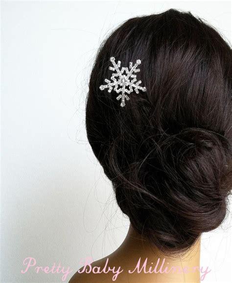 how to make a snowflake hair clip christmas hair accessories holiday hair accessories