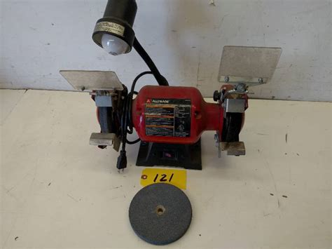 alltrade bench grinder alltrade 6 quot bench grinder works august consignments