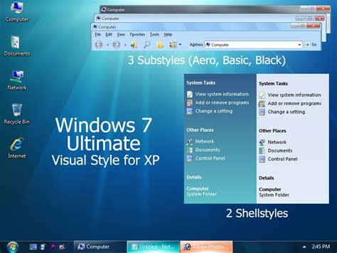 windows 7 ultimate themes download for xp theme styles free windows 7 ultimate visual style for xp