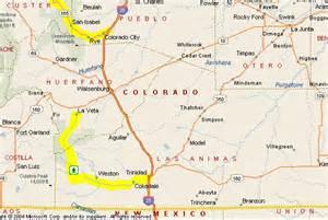 cuchara colorado map motorcycle colorado passes and canyons walsenburg area