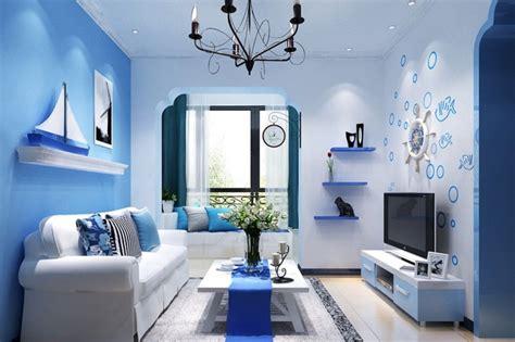 Merk Cat Tembok Biru Navy ruang tamu sempit warna biru minimalis ndik home