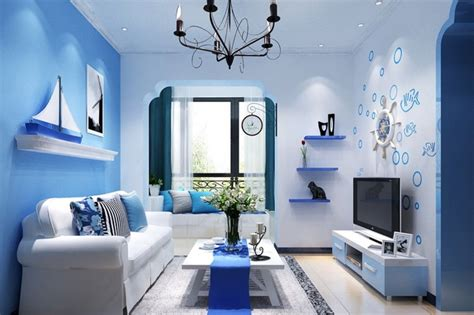ruang tamu sempit warna biru minimalis ndik home