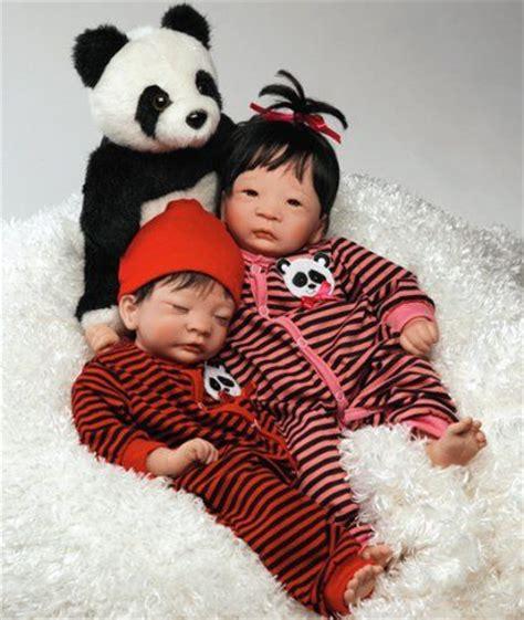 amazoncom collectible asian doll panda twin girl