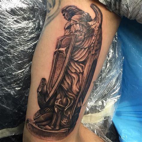 angel michael tattoo follow and tag inkedmagz to get featured michael
