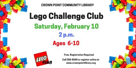 free printable lego crown crown point community library