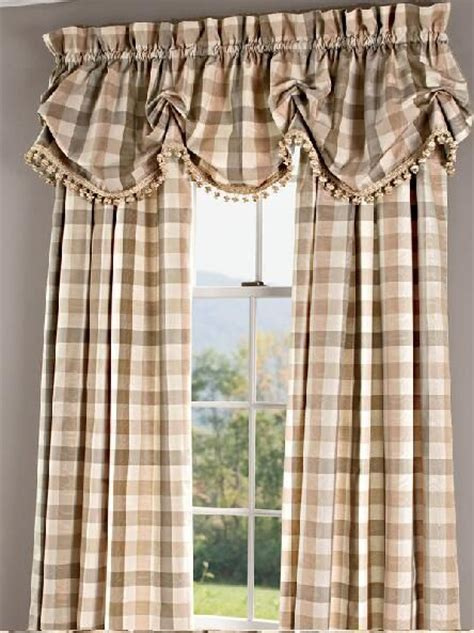 Country Plaid Kitchen Curtains 25 B 228 Sta Country Curtains Id 233 Erna P 229