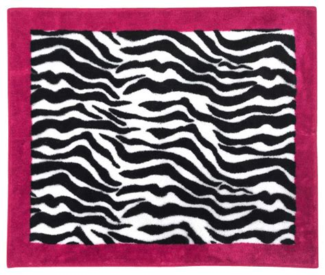 pink and black zebra rug pink zebra accent floor rug eclectic rugs by tiny totties