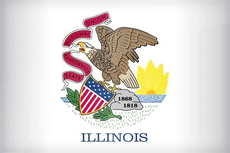 free coloring pages of illinois flag
