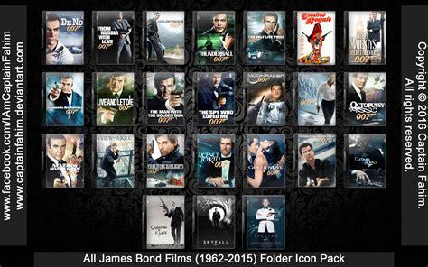 james bond film in cinema all james bond films 1962 2015 folder icon by