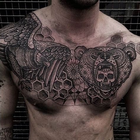tattoo chest piece 387 best chest piece tattoos images on pinterest chest