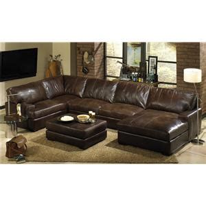 Top Of The Line Recliners by Usa Premium Leather 3635 Rectangular Cocktail Ottoman