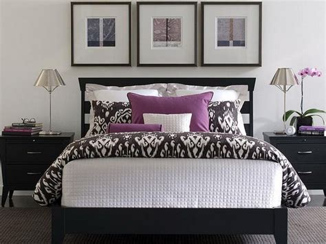 Purple Black And White Bedroom | purple and white bedroom combination ideas