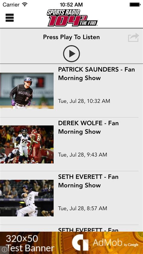104 3 the fan denver 104 3 the fan denver s sports radio 4 2 ios apps