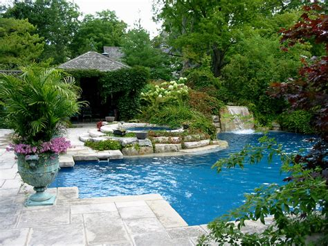 Backyard Pool Landscaping Ideas Home Design Ideas Pool Garden Design Ideas