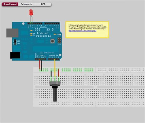 variable resistor in arduino arduino led with potentiometer
