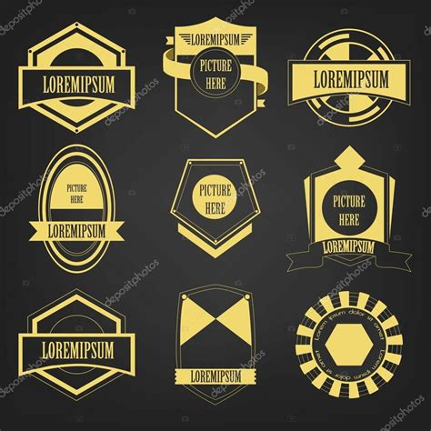 vintage logo vector set stock vector 169 ragakawaw 36018525