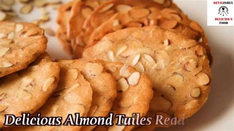 Biscuit Tuile by Almond Tuiles Almond Cookie