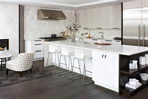 white kitchen grey floor wood floors