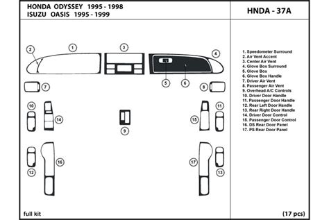 service and repair manuals 1995 honda odyssey spare parts catalogs service manual 1995 honda odyssey rear dash removal 1995 odyssey dash bezel page 1