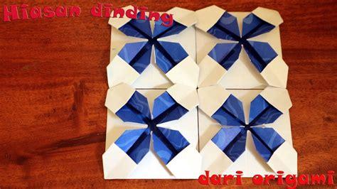 cara buat hiasan dinding origami tutorial cara membuat origami hiasan dinding kamar youtube