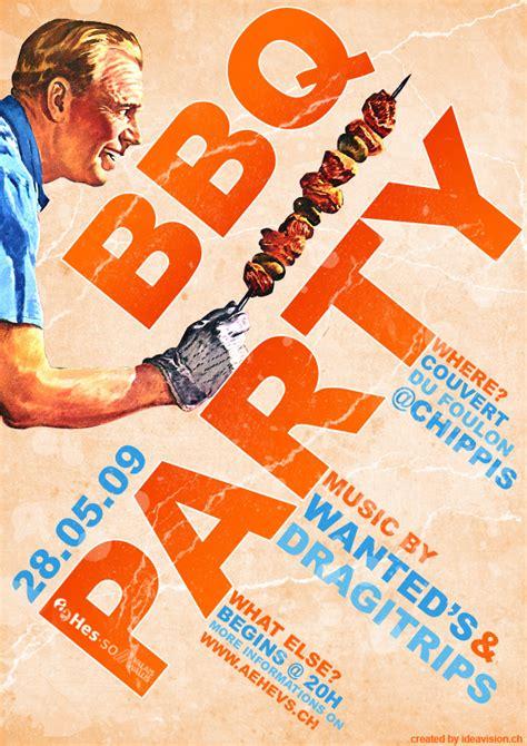 Bbq Party Flyer By Jonaska On Deviantart Cool Flyer Design Templates