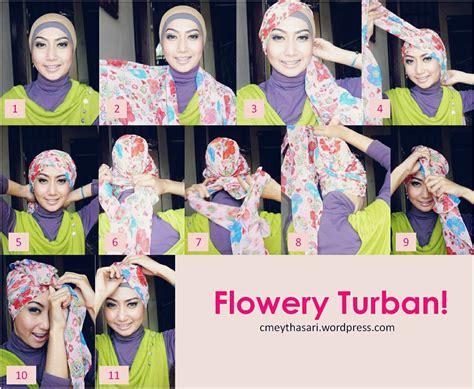 tutorial hijab turban pashmina sifon tutorial hijab