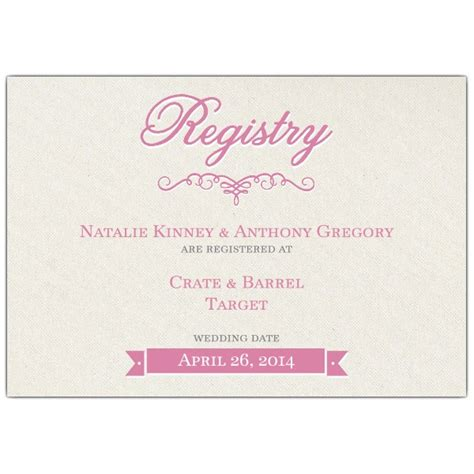wedding invitation registry wording pretty bridal registry cards paperstyle
