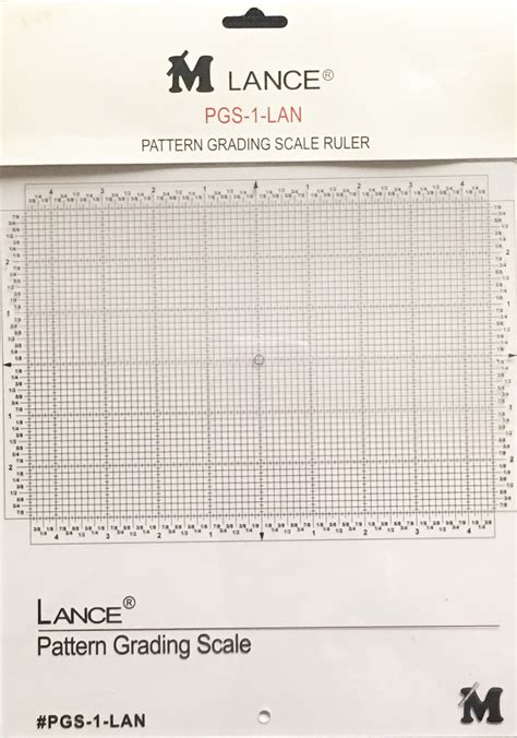 hinged pattern grading ruler lance pgs 1 lan pattern grading scale ruler 10 5 quot x11 5