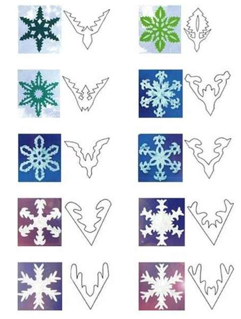 Handmade Paper Snowflakes - 40 paper snowflake garlands for decorating