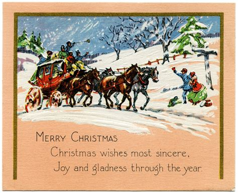 printable horse christmas cards horse and carriage vintage christmas card old design