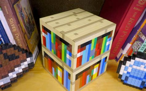 lego bookshelf minecraft